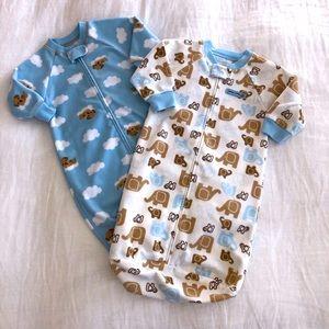 Carter's Boys Fleece Sleep Sack Bundle 0-9 Months